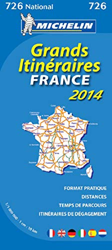 9782067191358: France Route Planning 2014 National Map 726 (Michelin National Maps)