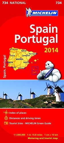 Spain & Portugal 2014. Mapa samochodowa. 1:1