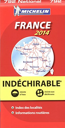 9782067191778: Michelin France National Map 792 ; tear-resistant ; 1/1,000,000 (French Edition)