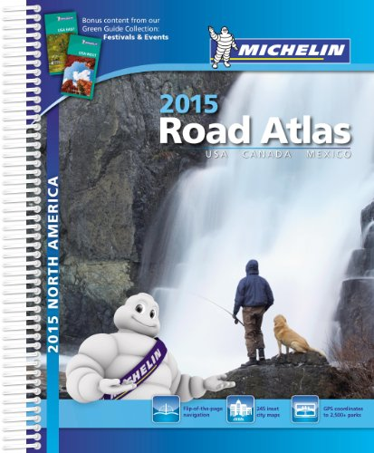 9782067191860: USA Canada Mexico 2015 A4 Spiral Atlas (Michelin Tourist and Motorist Atlas)