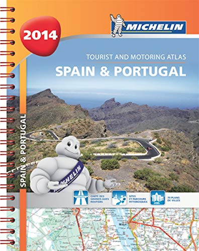 Spain & Portugal 2014 - A4 spiral atlas (Michelin Tourist and Motoring Atlas): Michelin