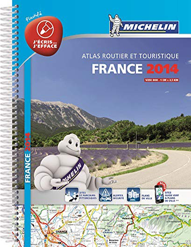 France 2014 Laminated A4 Spiral Atlas (Michelin: Michelin Maps &
