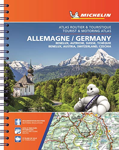 9782067192706: Michelin Germany/Austria/Benelux/Switzerland Atlas (Atlas (Michelin))