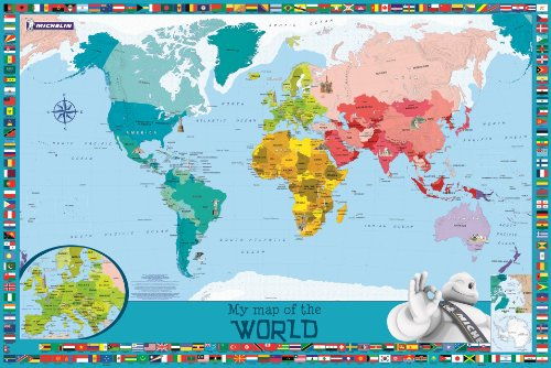 9782067194014: My Map of the World: Children's Wall Map (Map Wall)
