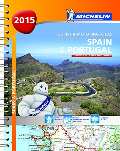 9782067198982: Spain & Portugal 2015 - Michelin tourist and motoring atlas A4 spiral (Michelin Atlas)