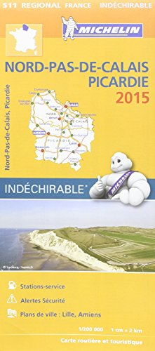 Carte routière et touristique Régional France Nord-Pas-de-Calais Picardie 2015