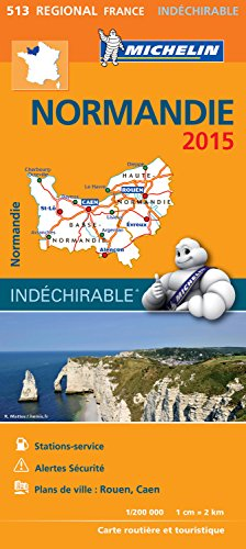 9782067199057: Michelin Map France Regional : Normandie Map 513 [ Normandy ] ; tear-resistant ; 1/200,000 (French Edition)