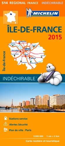 9782067199064: Michelin Map France Regional : Ile-de-France Map 514 [ Paris Region ] ; tear-resistant ; 1/200,000 (French Edition)