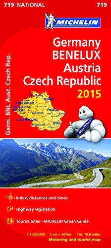 9782067199583: Germany, Benelux, Austria, Czech Republic Map 2015