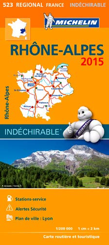 9782067199750: Michelin Map France Regional : Rhone-Alpes Map 523 ; tear-resistant ; 1/200 000 (French Edition)