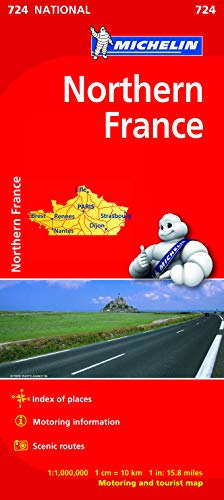 9782067200067: Northern France Map 724 (Michelin Regional Map)