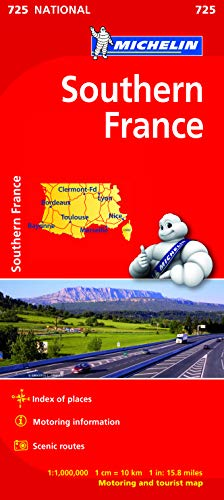 9782067200166: Southern France - Michelin National Map 725 (Michelin National Maps)