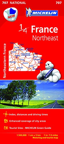 9782067200678: Northeastern France - Michelin National Map 707 (Michelin National Maps)