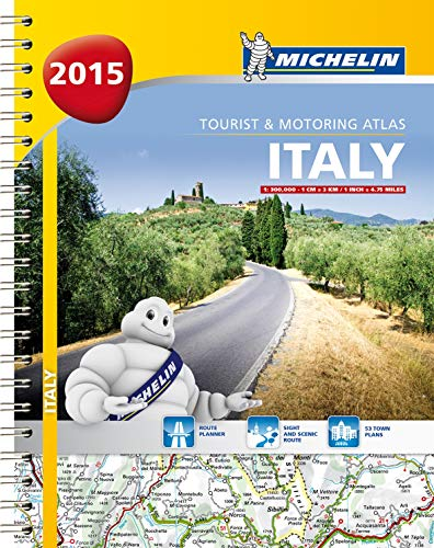 9782067200760: Italy 2015 Tourist and Motoring Atlas (Michelin Tourist and Motoring Atlas)