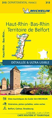 9782067202177: Bas-Rhin, Haut-Rhin, Territoire de Belfort : 1/150 000 (Départemental)