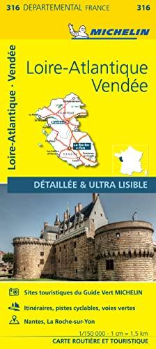 9782067202184: Carte Loire-Atlantique, Vendée Michelin