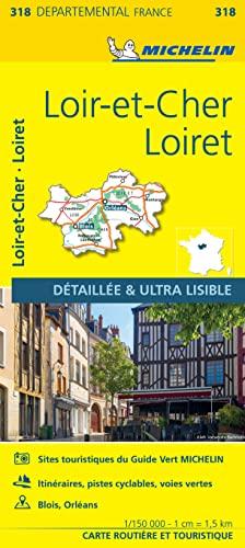 9782067202207: Carte Loiret, Loir-et-Cher Michelin