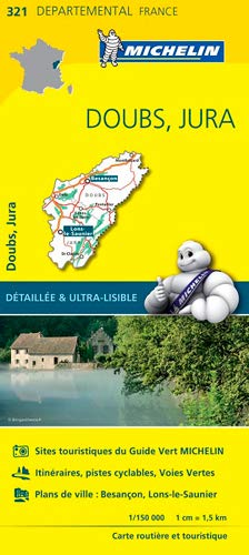 9782067202238: Doubs/Jura : Carte départementale 321