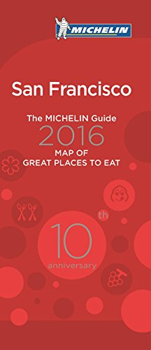 9782067205956: Michelin Map of San Francisco Great Places to Eat 2016