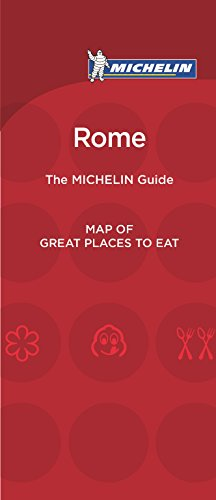 9782067206571: Michelin Map of Rome Great Places to Eat 2016 (Map of Great Places to Eat)