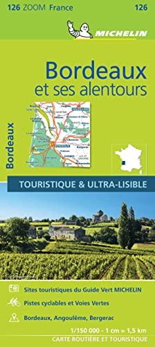 9782067208803: France ZOOM Map 126 : Bordeaux et ses alentours (French Edition)