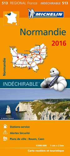 9782067208964: Carte Regional 513 : Normandie - 2016 ; Indechirable ; tear-resistant (French Edition)