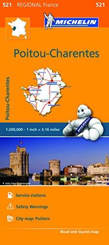 9782067209251: Michelin Regional Maps: France: Poitou-Charentes Map 521 (Michelin Regional France)