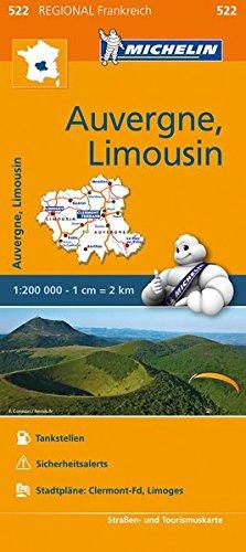 9782067209275: Michelin Auvergne-Limousin: Straßen- und Tourismuskarte 1:200.000: 522