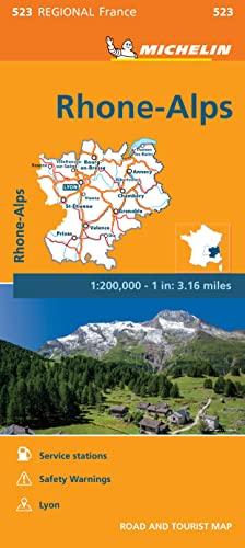 9782067209305: Michelin Regional Maps: France: Rhone-alps Map 523