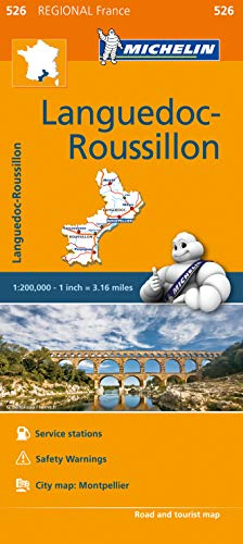 Michelin Regional Maps: France: Languedoc-Roussillon Map 526: Michelin