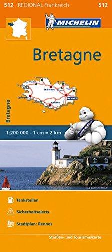 9782067209633: Michelin Bretagne: Straßen- und Tourismuskarte 1:200.000