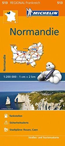 9782067209640: Michelin Normandie: Straßen- und Tourismuskarte 1:200.000