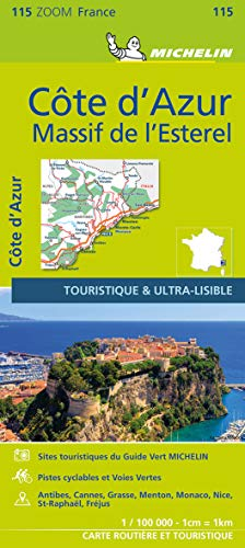 9782067209831: France ZOOM Map 115 : Cote d'Azur - Massif de l'Esterel (French Edition)