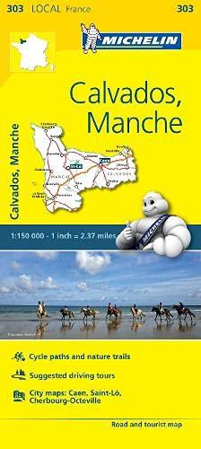 Calvados, Manche France Local Map 303