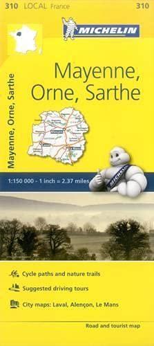 Mayenne, Orne, Sarthe France Local Map 310
