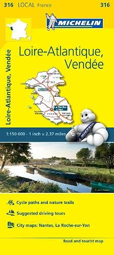 9782067210202: Mapa Local Loire-Atlantique, Vendee (Michelin Local Maps)