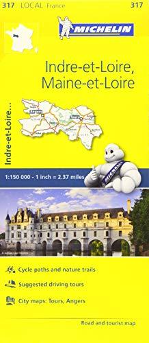 Indre-et-Loire, Maine-et-Loire, France Local Map 317