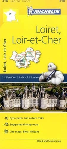 Loiret, Loir-et-Cher, France Local Map 318