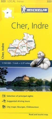 Cher, Indre, France Local Map 323
