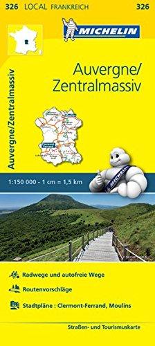 9782067210400: Michelin Auvergne - Zentralmassiv: Stra�en- und Tourismuskarte 1:150.000