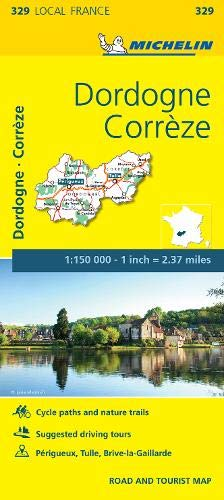 9782067210462: Corrèze, Dordogne: Map: 329 (Michelin Local Maps)