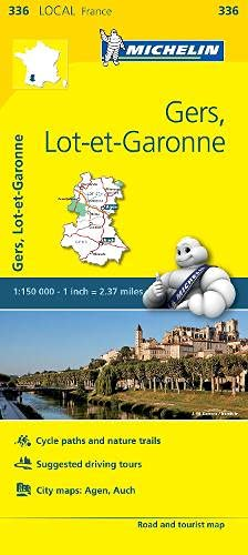 9782067210615: Gers, Lot-et-Garonne Map 336: Gers, Lot-et-Garonne Map 336 (Maps/Local (Michelin))