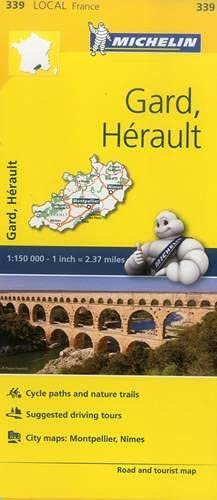 Gard, Herault, France Local Map 339