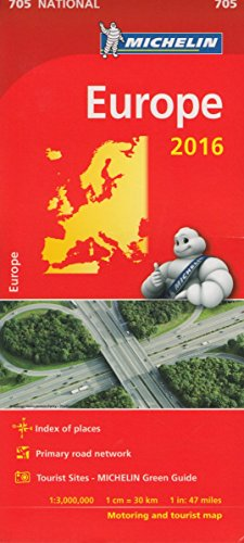 9782067210813: Europe 2016 National Map 705 2016 (Michelin National Maps)