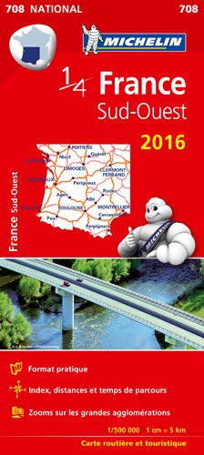 9782067210882: Carte France Sud-Ouest 2016 Michelin