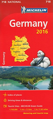 9782067211001: Germany 2016 National Map 718 2016 (Michelin National Maps)