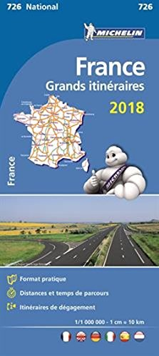 9782067211186: Mapa National Francia Grandes itinerarios (Mapas National Michelin)