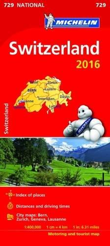 9782067211230: Switzerland 2016 National Maps 729 2016 (Michelin National Maps)
