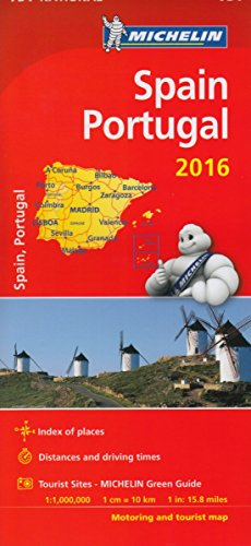 9782067211346: Spain & Portugal 2016 National Maps 734 2016 (Michelin National Maps)