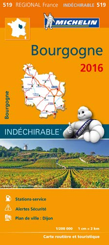 9782067211445: Carte Regional 519 : Bourgogne - 2016 ; Indechirable ; tear-resistant (French Edition)